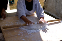 Hand Rolling the Mochi